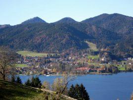 Blick von Tegernsee in Richtung Bad Wiessee