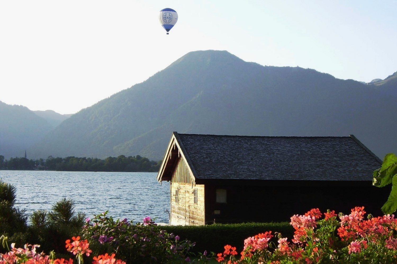 Ballon über dem Tegernsee