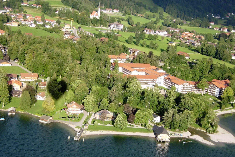 Haus Seeblick vom Ballon aus gesehen